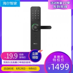 【特权券】【限量10个】 智能门锁HFH-10E-T曜石黑直播间优惠价格特权